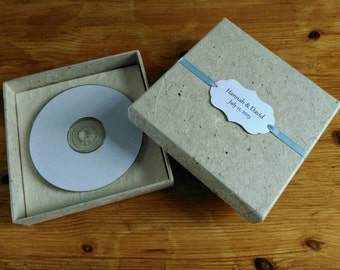 CD Box, Rustic CD Packaging, Choice of Lokta/Ribbon.