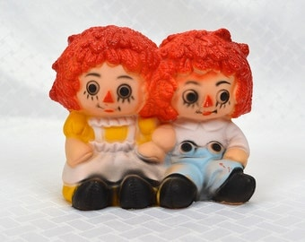 Raggedy Ann and Andy Lamp Night Light 1960s - UL Listed