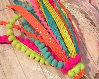 Neon Fun - Floppy Ribbon Bow Planner Clips / Bookmarks