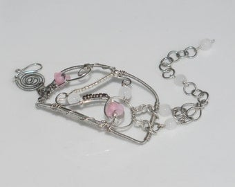 """Bracelet """"Fairy dream"""" silver plated with glass beads"""