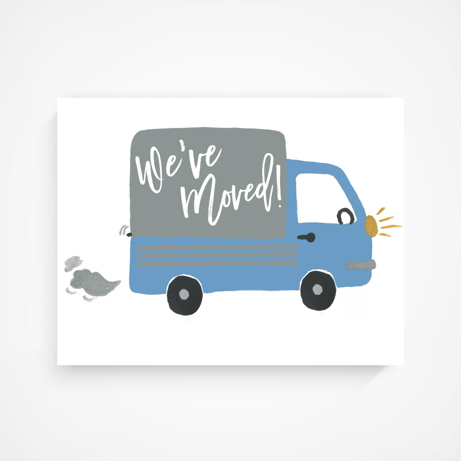 Weve moved note card post card greeting card hand weve moved note card post card greeting card hand lettered kristyandbryce Gallery