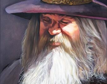 "Original Fantasy Art Painting - ""Contemplation"" © J W Baker"