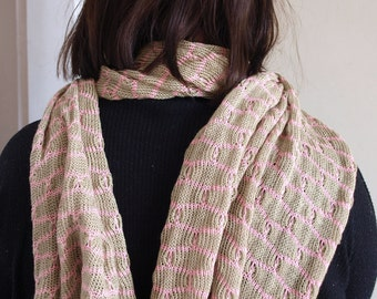 Machine Knitted Shapes Scarf/ Shawl