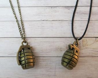 3D Grenade Necklace
