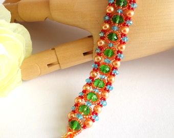 Pearl bracelet colorful bracelet glass beads Miyukiperlen BOHO engineered bracelet