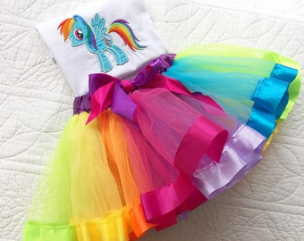Rainbow pony Baby & children's  tutu set