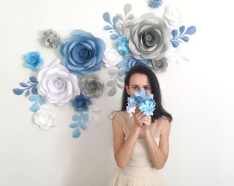 Paper Flower Backdrop - Paper Flowers - Paper Flower Wall - Giant Paper Flowers
