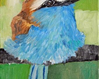 Blue Bird, oil on canvas