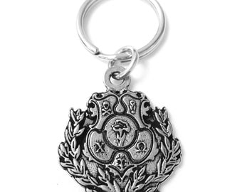 Chi Omega Metal Crest Keychain - Hand Poured chi o