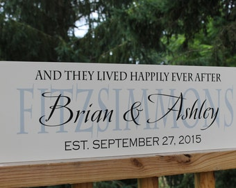 Couples Gifts, Newlywed Christmas Gift, Personalized Wedding Gift, Wedding Decor, Wood sign with established date, anniversary gift, custom