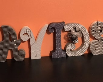 Custom wood letters. Wood letters. Home letters. Nursery letters. Last name wood letters.