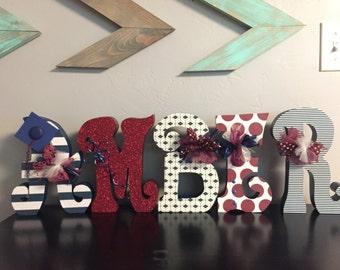 Custom wood letters. Wood letters. Nursery letters. Wedding letters. Graduation letters.