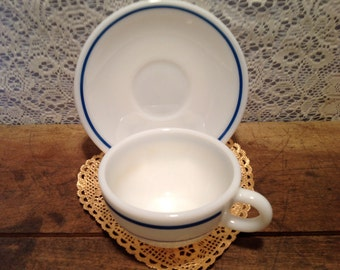 Pyrex Cup and Saucer Milkglass