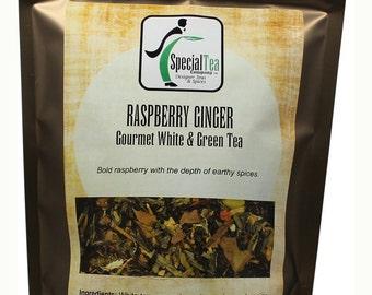 Raspberry Ginger, White Tea, 20 Tea Bags