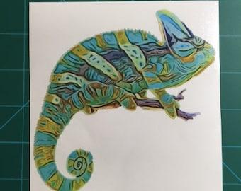 Chameleon Decal/Sticker 5X5