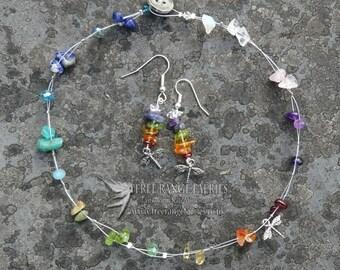 Chakra Dragonfly Gemstone Jewellery Set