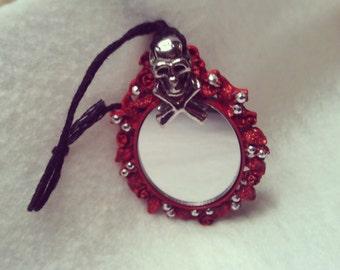 skull mirror ornament