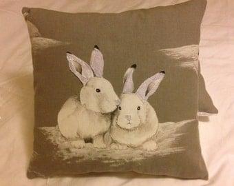 Snuggly Bunnies cushion