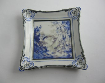 ROSENTHAL Selb-Bavaria 01898. Small, age old porcelain picture. Approx 10.5 cm x 11 cm. Around 1930? VINTAGE