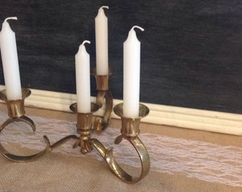 Solid Brass 4 Candle Candelabra