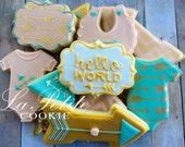 Boho Baby / Hello World Sugar Cookies (1 dozen)