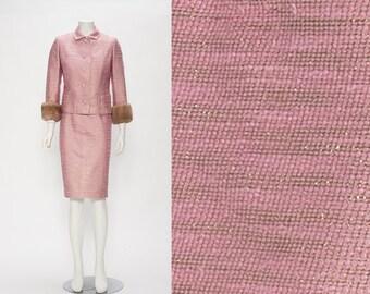 SALE chanel inspired wool + silk blend set vintage 1960s • Revival Vintage Boutique