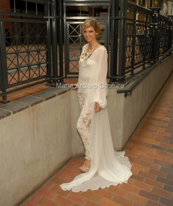 Favorito Wedding Dress pantaloni di pizzo Abito da sposa alternativi RT38