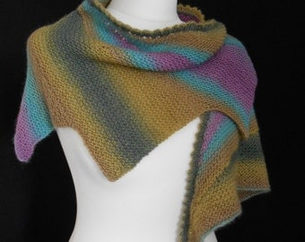 Hand Knitted Wingspan Shawl