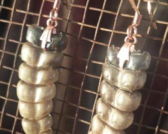 Rattlesnake rattle earrings