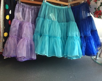 50's Reproduction Crinoline Petticoat / Full Skirt / Small Medium Large