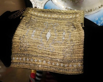 Antique French Steel Cut Beaded Bag Art Deco 1920s 20s Flapper Purse Evening Handbag Made in France Wedding Prom Gatsby Estate Heirloom