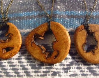Forest Spring Live Edge Wooden Pendant