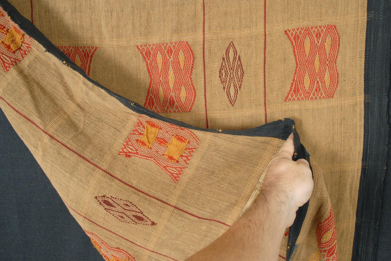 Naga Tribal Boho Textile Brown Ethnic Home Decor Blanket