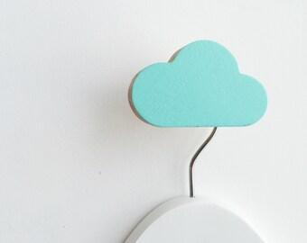 Wall Hook Cloud Minty