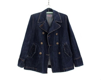 Vintage jacket // Denim Esprit pea coat