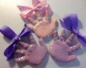 Baby handprint Ornament x3
