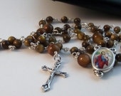 Mini River Shell Rosary With A St Christopher Center