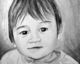Pencil Sketch from Photo - Portrait Drawing - Custom Drawing from Photo - Pencil Portrait - Custom Portrait - Earth Child Art
