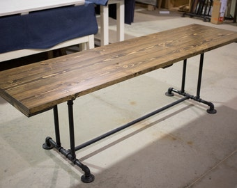 Counter height solid wood farmhouse table farmhouse by for Farmhouse counter height table