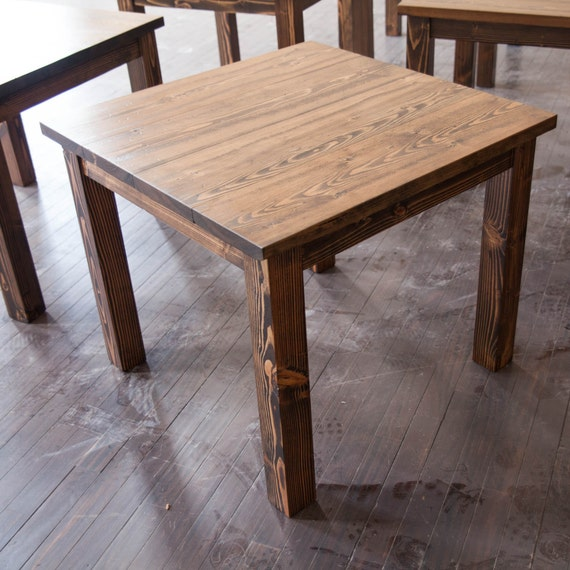 Square Farmhouse Table Square Farmhouse Dining Table