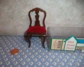 1:12 scale dollhouse miniature Vintage Dining chair