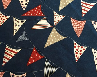 Red, White & Free by Sandy Gervais for Moda  Fabrics. 17805-12, Navy, 100% Cotton. ** This is for 1/2 Yard cut ***