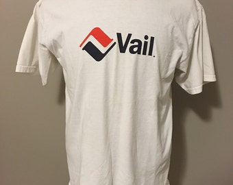 Vintage Vail Ski Resort T-Shirt, Large