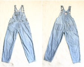overalls | womens denim overalls | 90s grunge denim jumpsuit | workalls | coveralls | overall pants [ medium ]