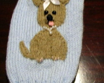 Small dog sweater with chihuahua motif