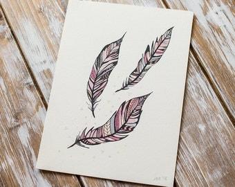 SALE // Feathers | A5 Giclée Print