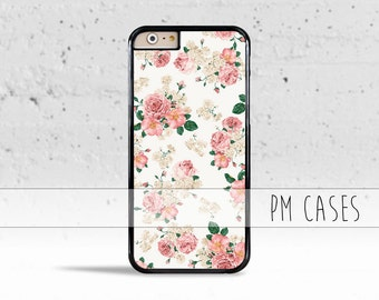 White Floral Case Cover for Apple iPod Touch & iPhone 4/4s/5/5s/5c/6/6s/Plus/SE