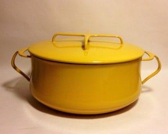 Dansk Kobenstyle Dutch Oven Enamel Metal Pot Bright Yellow ICQ France