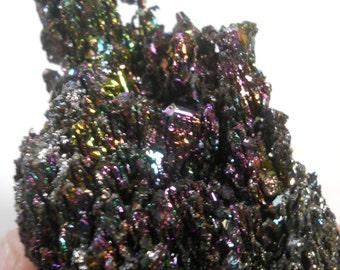 Rainbow silicon carbide, rainbow crystal, lab grown, carborundum, reiki, healing crystal