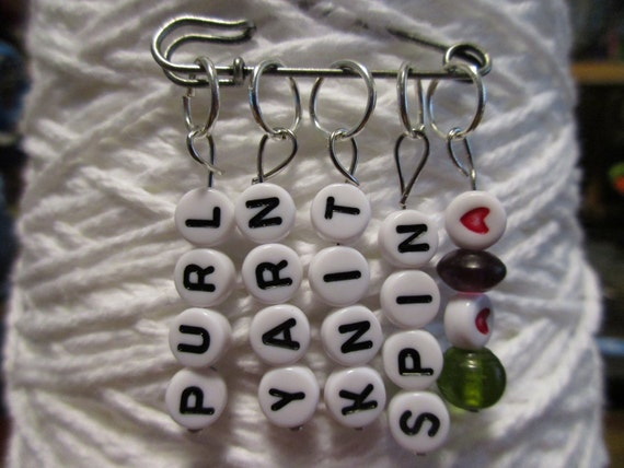 Custom Letter Stitch Markers